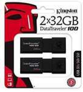 Lot de 2 clés USB 3.0 Kingston DataTraveler 100 G3 - 2 x 32 Go
