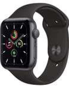 Montre connectée Apple Watch SE (GPS, 44 mm) - boitier en aluminium gris sidéral & bracelet sport noir