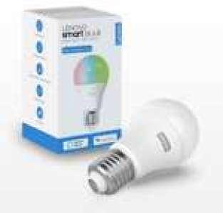 Ampoule connectée Lenovo Smart Bulb - RBGW, 2700K-6500K, Compatible Alexa et Google Assistant