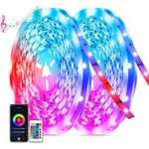 Lot de 2 Ruban LED Tasmor - 20M, RGB 5050, Bluetooth (Vendeur tiers)