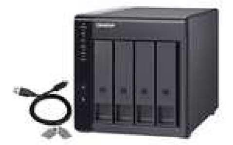Boitier d'extension pour NAS QNAP TR-004 - 4 Baies, USB-C 3.2 Gen 1 (Boitier nu)