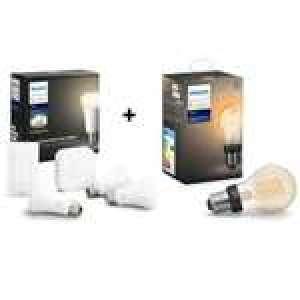 Pack Philips Hue : 3 ampoules + Pont + interrupteur + Ampoule Filament