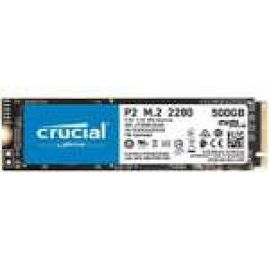 SSD interne M.2 NVMe Crucial P2 - Jusqu'à 2300 Mo/s en lecture et jusqu'à 940 Mo/s en écriture (CT500P2SSD8) - 500 Go