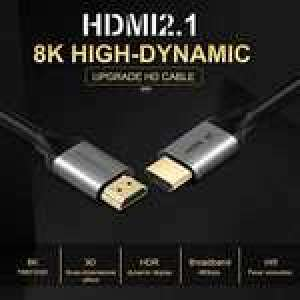 Câble HDMI 2.1 - 8K UHD, 1 m à 6.99€, 2 m à 8.99€ ou 3 m à 10.99€ (vendeur tiers, expédié Amazon)