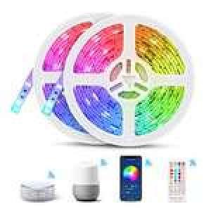 Ruban LED connecté WiFi Tasmor - 10m, IP65, compatible Google Home, Alexa & Tuya (Vendeur Tiers)
