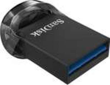 Clé USB 3.1 Sandisk Ultra Fit - 128 Go (jusqu'à 130Mo/s)