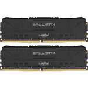 Kit Mémoire RAM DDR4 Crucial Ballistix - 16 Go (2 x 8 Go), 3200 MHz, CAS 16 (Noir ou Blanc)