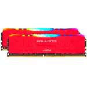 Kit Mémoire RAM Crucial Ballistix RGB - 32 Go (2x 16 Go) DDR4, 3200 MHz, CL16, Rouge