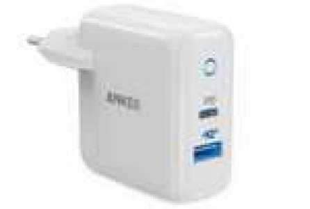 Chargeur secteur Anker PowerPort - 30W, USB-C 18W + USB-A 12W (Via remise panier)