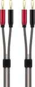 Câbles pour haut-parleurs / enceintes Adeqwat HP - 2x3 m, montés sur fiches bananes (via retrait en magasin)