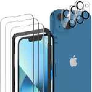 Lot de 3 protections écran en Verre Trempé + 3 protections Caméra arrière compatibles iPhone 13 Mini (Via coupon - Vendeur tiers)