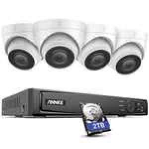 Système de surveillance ANNKE H800 PoE 8CH - 4 Caméra 4K 8MP IP67 + Enregistreur vidéo NVR + Disque dur 2 To + Accessoires