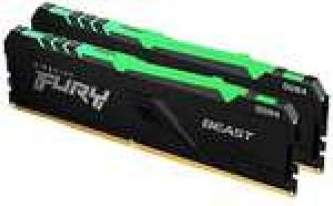 Kit mémoire Ram DDR4 HyperX Fury Beast 32 Go (2x16 Go) - 3600mhz