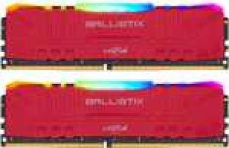 Kit de RAM Ballistix TM Red RGB DDR4-3200 CL16 - 32 Go (2x16)
