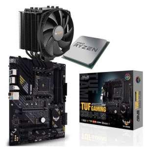 Kit d'évo PC - processeur AMD Ryzen 7 5800X + carte-mère Asus TUF Gaming B550-Plus + ventirad Be quiet! Dark Rock 4