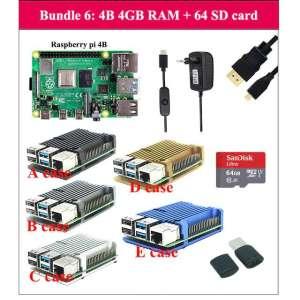 Bundle carte de développement Raspberry Pi 4 - 4 Go + Carte mémoire 64 Go + Accessoires (68,48€ avec le code FRAE8)