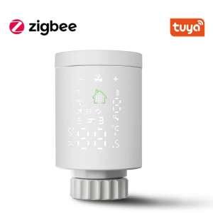 Tête thermostatique connecté Tuya - compatible Zigbee, Blanc