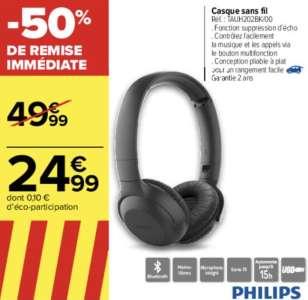 Casque sans fil Bluetooth Philips TAUH202BK