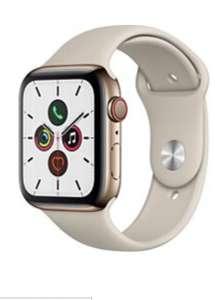 Montre connectée Apple Watch Series 5 44mm (Cellular + GPS), Acier Or/Gris Sable