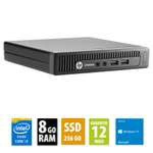 Ordinateur HP EliteDesk 800 G1 (i3-4150T, 8 Go de RAM, 256 Go en SSD, Windows 10) - Reconditionné Grade A