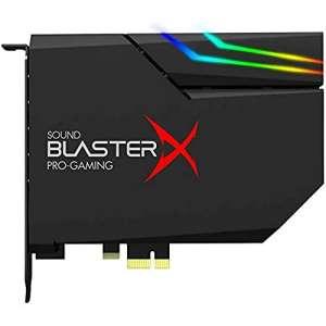 Carte son interne Creative BlasterX AE-5 Plus RGB Aurora - DAC 32 bits/384 kHz, SNR jusqu'à 122 DB