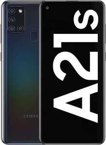 "Smartphone 6.5"" Samsung A21s - 3 Go de RAM, 32 Go de stockage, Noir (Frontaliers Allemagne)"