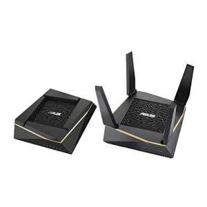 Pack de 2 Routeurs Système WiFi 6 Asus RT-AX92U - Ai Mesh AX6100 Tri-Bande Gigabit (via ODR 80€) (9€ de cashback possible par Boursorama)