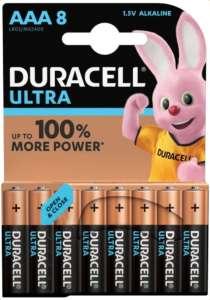 Lot de 8 piles Duracell AAA Ultra Power LR03