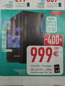 PC fixe Gamer E-Razer X31 - i5-10400F, 16 Go RAM, 1 To SSD, RTX 3060, Windows 10 (Frontaliers Belgique)