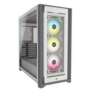 Boitier PC Corsair iCUE 5000X RGB - Blanc, E-ATX, Moyen Tour