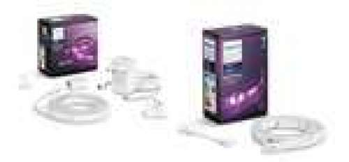 Bande LED Philips Hue White & Color indoor Lightstrips+ Plus - 2m + Indoor LightStrips+ (1m) + extension & rallonge