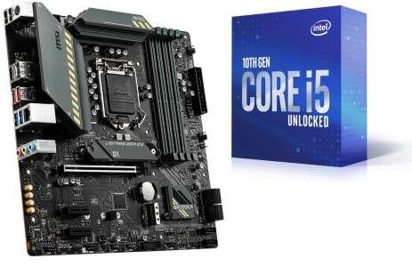 Processeur Intel Core i5-10600K + Carte-mère MSI MAG B560M Bazooka (via ODR de 35€)