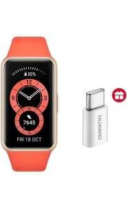 Bracelet connecté Huawei Band 6 Montre Connectée Sport + Adaptateur Type C (Plusieurs couleurs)