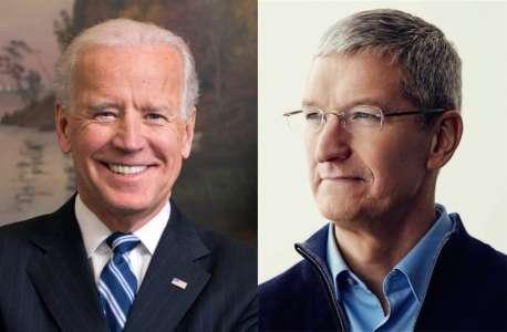 Tim Cook va rencontrer Joe Biden pour la cybersécurité