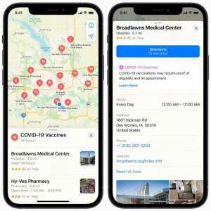 Covid-19 : Apple Plans liste les centres de vaccination aux États-Unis