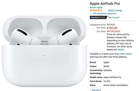 [#Promo] Airpods Pro à 182€ au lieu de 279€ (+ autres promos Apple)