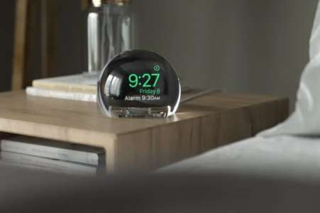 NightWatch : le dock de recharge qui transforme l'Apple Watch en un superbe Réveil en forme d'orbe