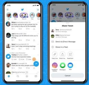 Twitter iOS facilite le partage de tweets en story sur Instagram