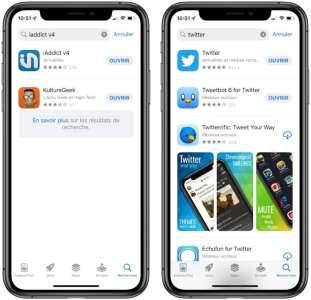 iOS 15 : l'App Store cache les captures d'écran des apps installées dans la recherche