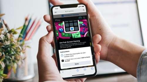 Facebook Gaming propose ses jeux sur iOS avec une web app
