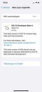 Bêta 4 disponible pour iOS 15, macOS Monterey, watchOS 8 et tvOS 15