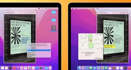 macOS Monterey bêta 4 active «Texte en direct» sur les Mac Intel