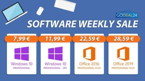 [#BonPlan] Windows 10 pro à 7,99€, Office 365 Pro à 15,21€, Parallels Desktop 16 Pro à 49,99€,…