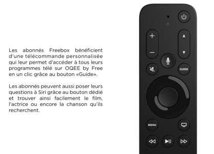 La télécommande de Free pour l'Apple TV 4K est disponible à l'achat