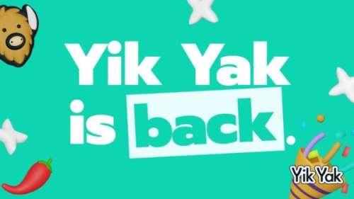 Yik Yak : le réseau social local de retour dans l'App Store