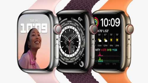 Apple a expédié les Apple Watch Series 7 en Europe