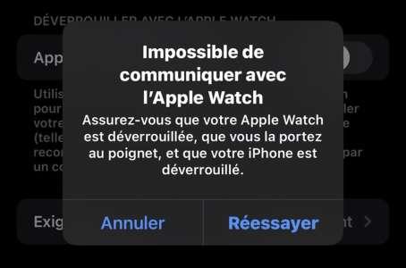 iOS 15.1 bêta 2 corrige le bug des iPhone 13 et le déverrouillage avec l'Apple Watch
