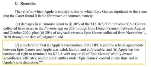 Apple vs Epic Games : le jugement précise qu'Apple a toute latitude pour bannir Fortnite de l'App Store