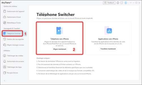 7 Solutions de transfert de données Android / iPhone vers l'iPhone 13
