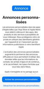 France Digitale est ravie du changement d'Apple pour les pubs personnalisées de l'App Store